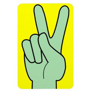 Peace Symbol Hand Rectangular Photo Magnet