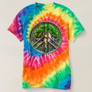 Peace Symbol Spiral Tie-Dye T-Shirt