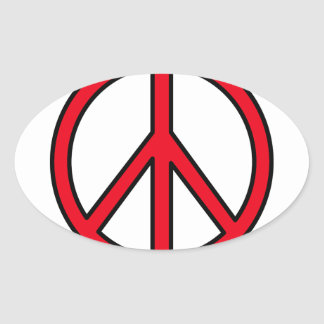 Peace Symbol Oval Sticker
