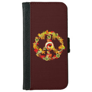 Peace Symbol Thanksgiving Turkey iPhone 6 Wallet Case