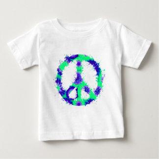 Peace Symbol Tie Dye Ink 10 T Shirt