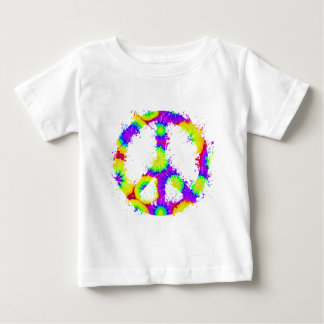 Peace Symbol Tie Dye Ink 3 Tee Shirt