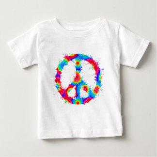 Peace Symbol Tie Dye Ink Tee Shirt
