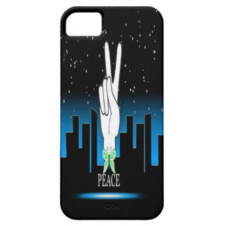 Peace Symbol with a City Background iPhone 5 Cover
