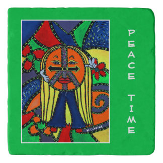 Peace Time On Green Time Pieces Trivet