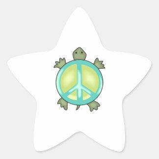 PEACE TURTLE STAR STICKER