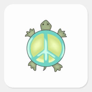 PEACE TURTLE SQUARE STICKERS