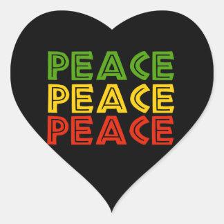 Peace Words Heart Sticker