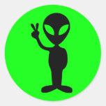 Peaceful Alien Sticker