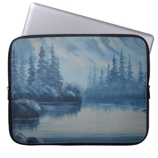Peaceful Blue Mountain Laptop Computer Sleeves