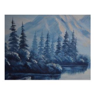 Peaceful Blue Mountain Postcard
