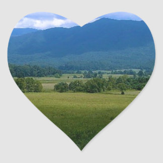 Peaceful Cades Cove Heart Stickers