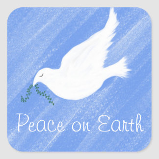 Peaceful Dove Square Sticker