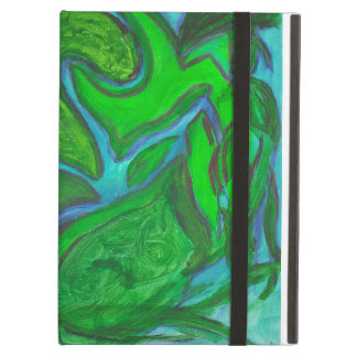 Peaceful Energy Green Eyed Kitty Case For iPad Air