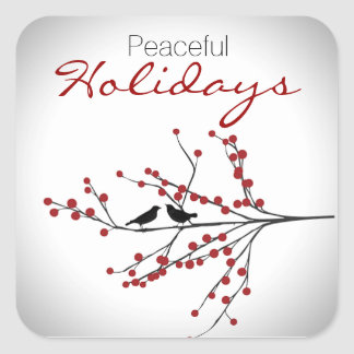 Peaceful Holidays Sticker
