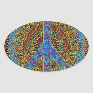 Peaceful Living Oval Sticker