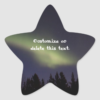 Peaceful Northern Lights; Customizable Star Stickers