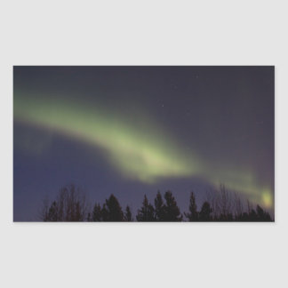 Peaceful Northern Lights Rectangular Stickers