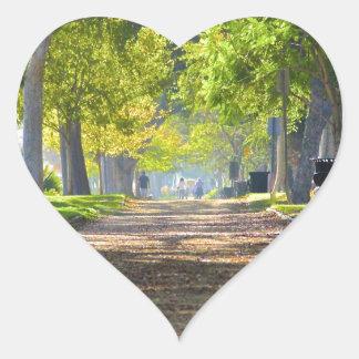 Peaceful Path Heart Sticker