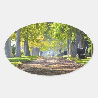 Peaceful Path Oval Sticker