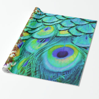 Peaceful Peafowl Flow Wrapping Paper