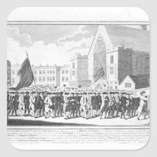 Peaceful Procession of the Members of Protestant Square Sticker