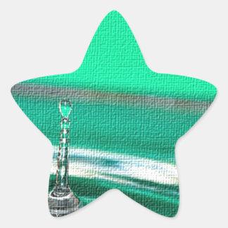 Peaceful  Raindrops Star Sticker