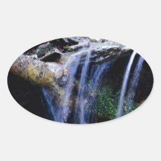 Peaceful Oval Sticker