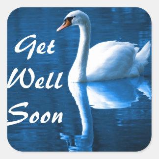 Peaceful Swan Square Sticker