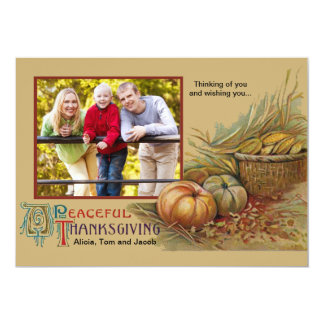 Peaceful Thanksgiving Photo Card