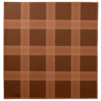 Peach And Brown Plaid Pattern Napkins