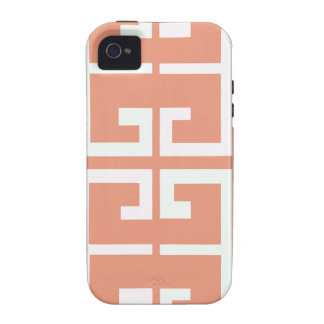 Peach and White Tile iPhone 4/4S Cover