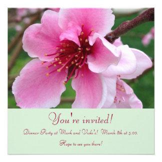 Peach Blossom Invite green