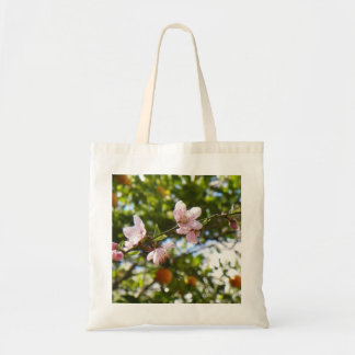 Peach Blossoms and Oranges Tote Budget Tote Bag