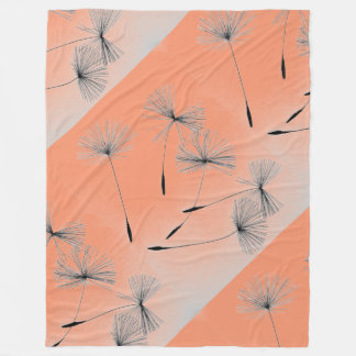 Peach dandelion wishes blanket Fleece