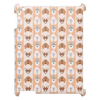 Peach Dog Stripes iPad Cases