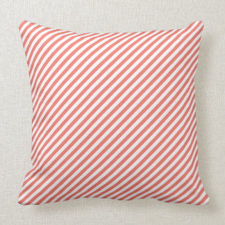 Peach Echo Diagonal Stripe Throw Pillow