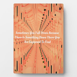 Peach Fractal Tunneling Words To Live By Plaque
