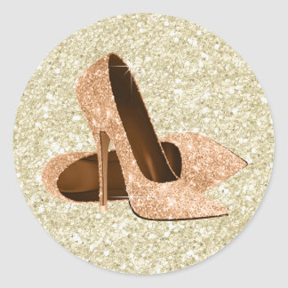 Peach High Heel Shoe Stickers