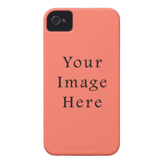Peach Nectarine Pink Color Trend Blank Template iPhone 4 Cover