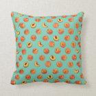 "Peach Pattern Polyester Throw Pillow 16"" x 16"""