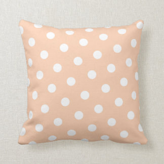 Peach Polka Dot Pillow