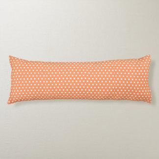 Peach Polka Dots Body Pillow