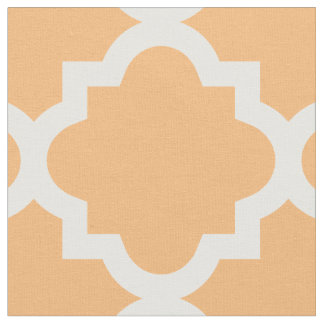 Peach Quatrefoil Pattern | Fabric