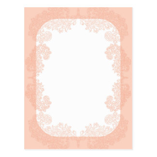 Peach romantic elegant invitation template postcard