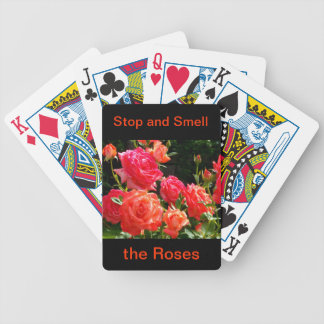 Peach Roses - stop and smell the roses Poker Deck