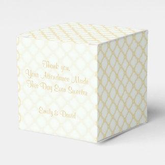 Peach Trellis Favour Box