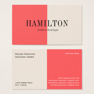 Peaches and Cream   Business Card