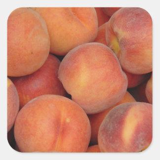 Peaches Square Sticker