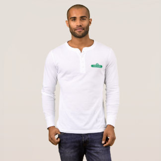 Peachtree Curling Logo Men's Henley Shirt